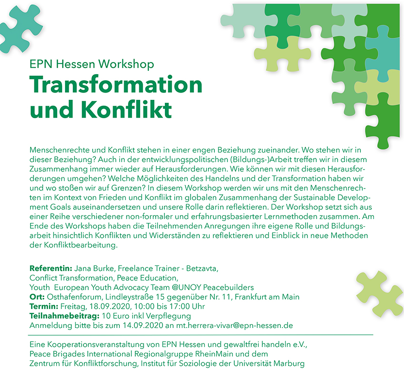 Transformation und Konflikt